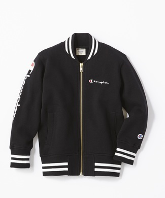 Champion リブラインスウェットジャケット(ジュニアサイズ150cm) キッズ ブラック