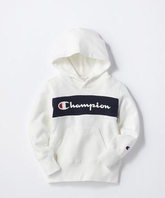 Champion 配色切替パーカー キッズ ホワイト