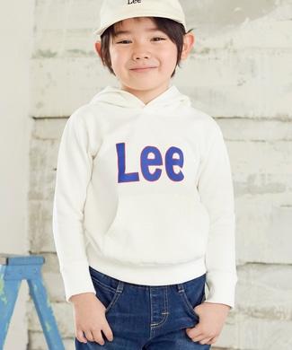 Lee 【期間限定キッズスウェット2枚目半額】フチロゴパーカー キッズ ホワイト