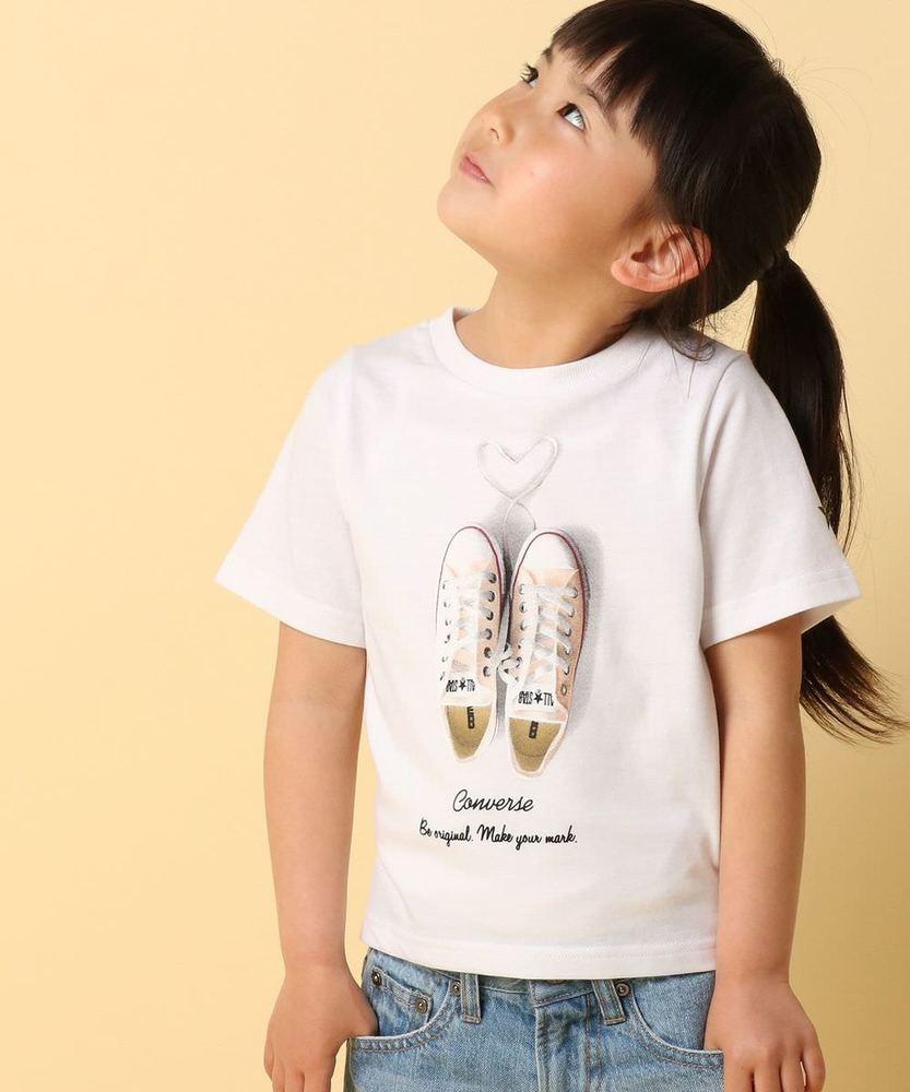 CONVERSE 【WEB限定価格】シューズプリントTシャツ キッズ オフシロ