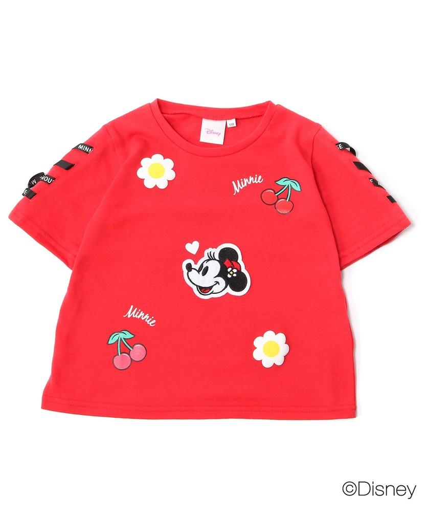 DISNEY アップリケ風Tシャツ(ジュニアサイズ150・160cm) キッズ レッド