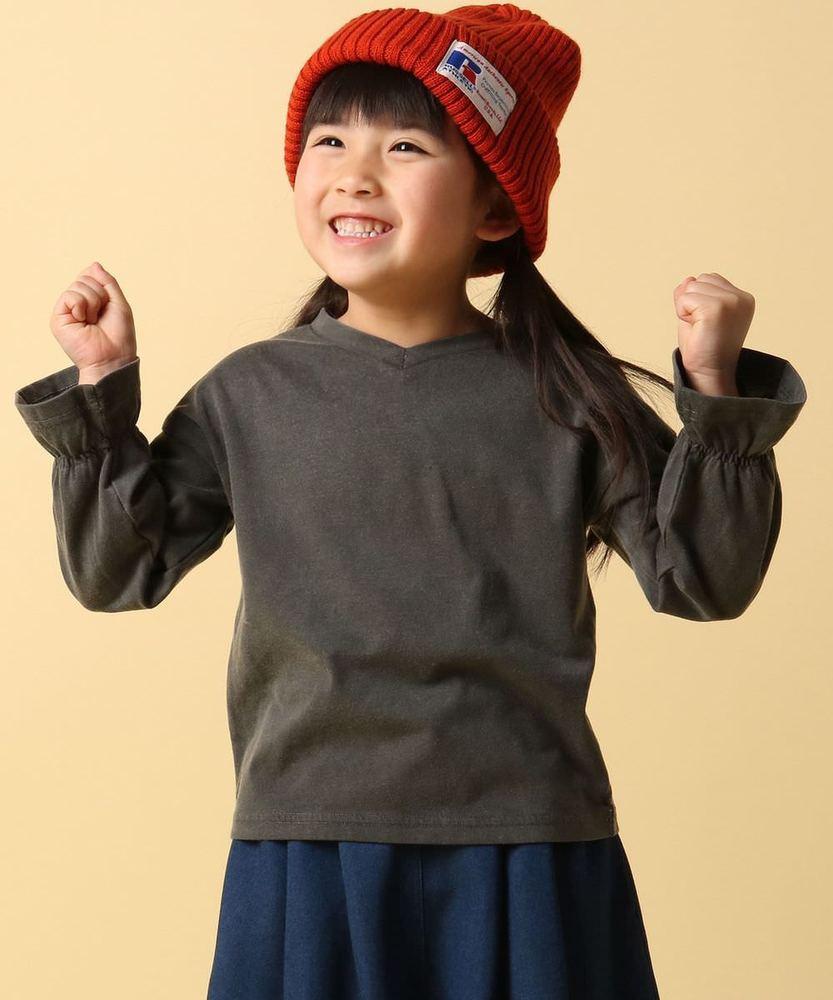 MPS 【WEB限定価格】ギャザー入りロングスリーブTシャツ キッズ ダークグレー
