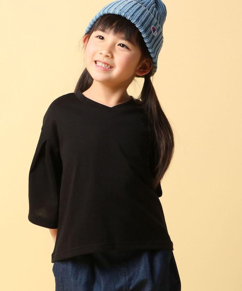 MPS 【WEB限定価格】フレア7分袖Tシャツ キッズ ブラック