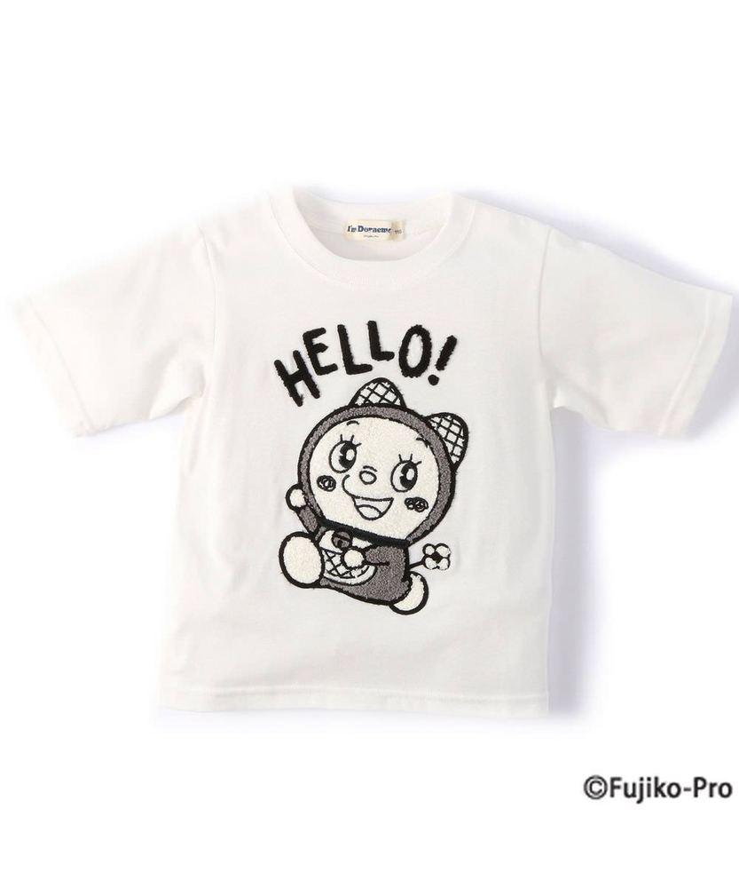 I'm Doraemon 【WEB限定価格】モノトーンドラミ5分袖Tシャツ キッズ オフシロ