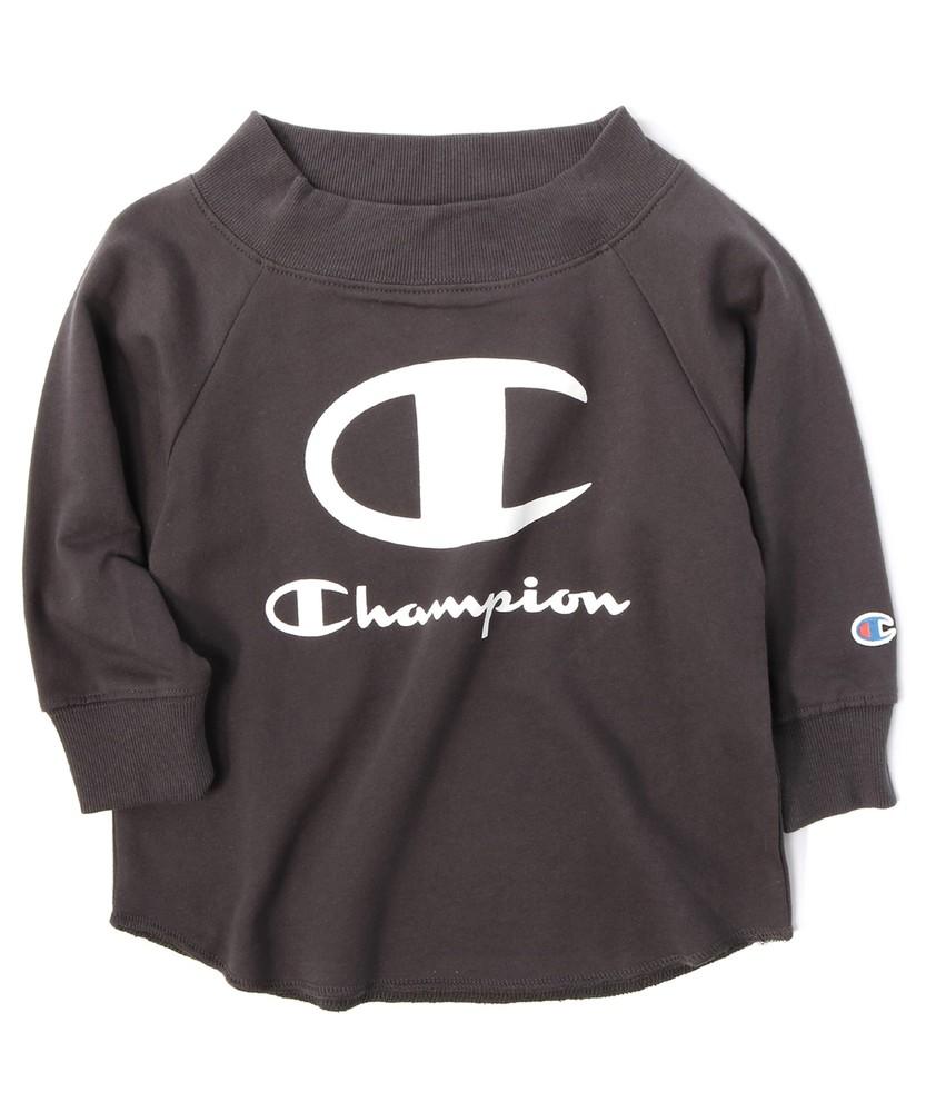 Champion オフショルダーTシャツ キッズ ダークグレー