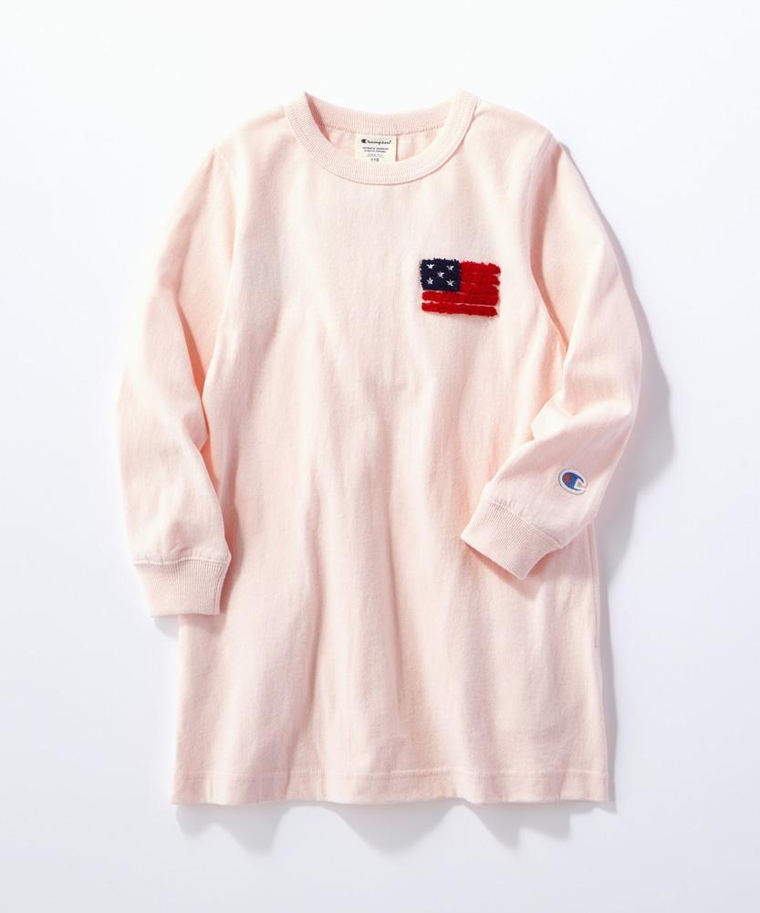 Champion 【WEB限定】サガラワンピース(ジュニアサイズ150・160cm) キッズ ピンク