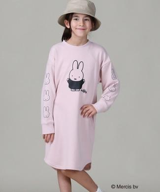 miffy ミッフィープリントワンピース ピンク