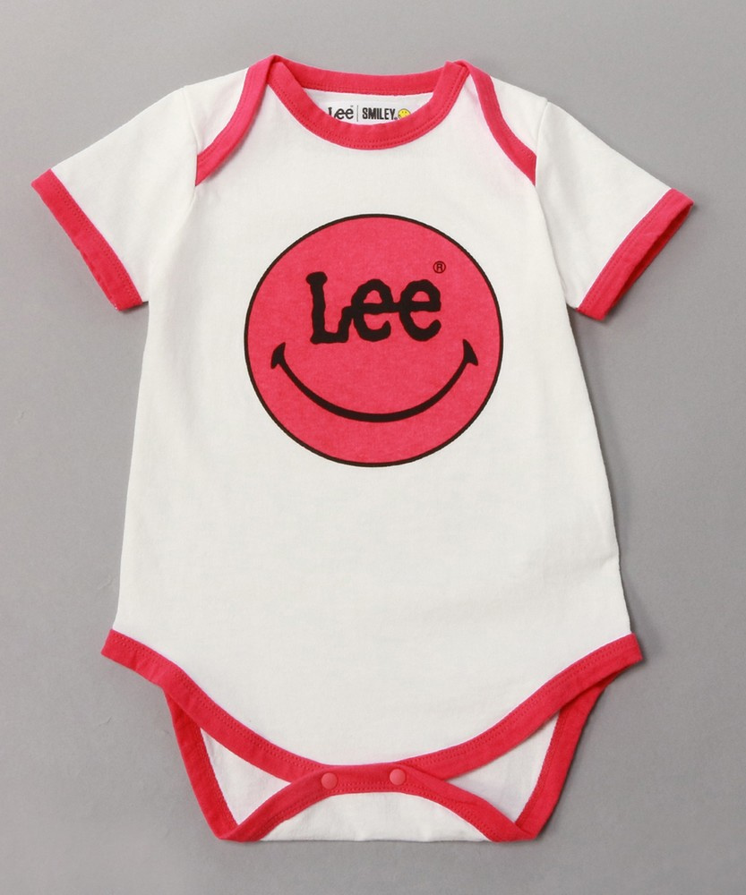 Lee 【WEB限定】「SMILEE」ロンパース キッズ ホワイト*レッド