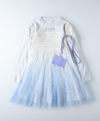 DISNEY 「アナと雪の女王」ドレスワンピース キッズ ブルー