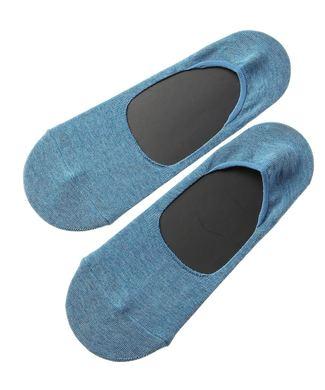 Right-on Basic メランジプレーンソックス フットカバー メンズ ブルー