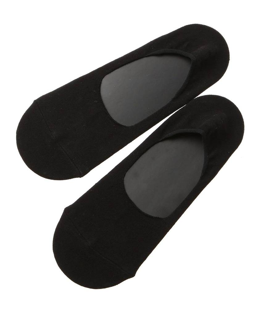 Right-on Basic メランジプレーンソックス フットカバー メンズ ブラック