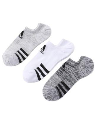 adidas スリーラインソックス3Pセット メンズ ホワイト