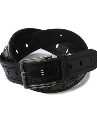 EDWIN パンチングベルト メンズ ブラック