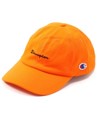 Champion ベースボールキャップ メンズ オレンジ