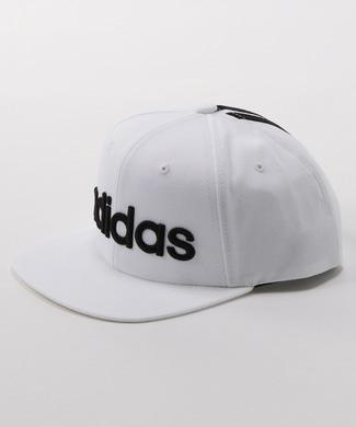adidas 平ツバラインキャップ メンズ ホワイト