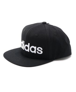 adidas 平ツバラインキャップ メンズ ブラック