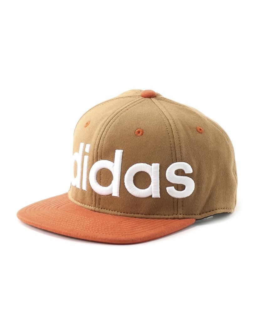 adidas フラットブリムキャップ メンズ ベージュ