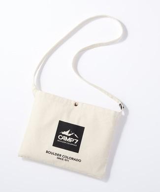 CAMP7 キャンバスサコッシュバッグ メンズ マウンテンロゴ