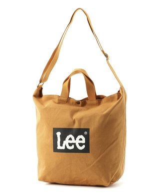 Lee ロゴ2wayショルダートートバッグバッグ キャメル