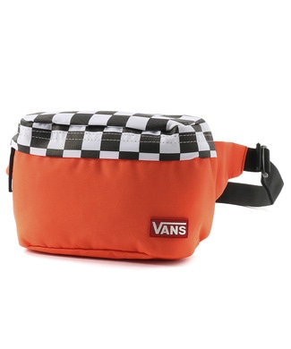 VANS チェッカーフラッグバッグ メンズ オレンジ