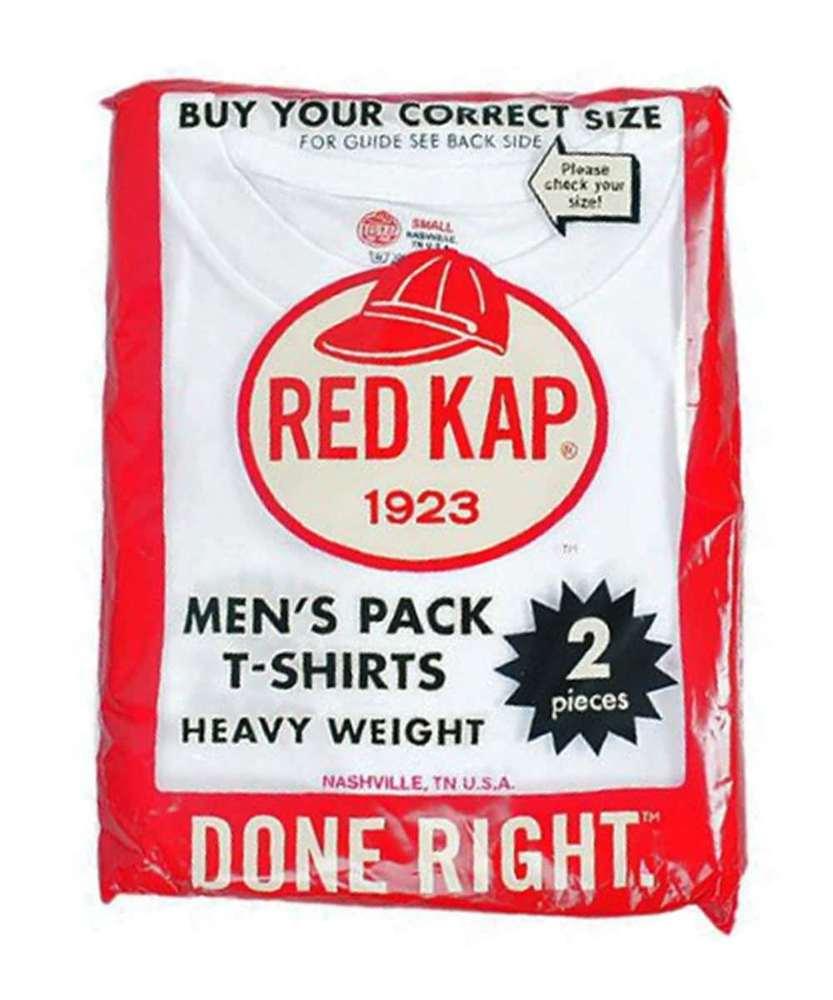 RED KAP 【WEB限定】2パック 無地Tシャツ メンズ ホワイト