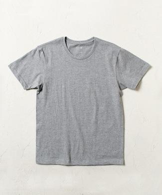 BASIC INNER 【綿100%】クルーネック天竺Tシャツ メンズ グレー