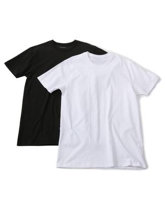 gunze スーパーコットンTシャツ メンズ ホワイト*ブラック