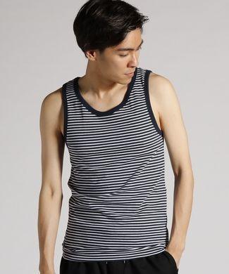 BASIC INNER 【綿100%】天竺ボーダータンクトップ メンズ ネイビー*ホワイト| メンズファッショントレンド