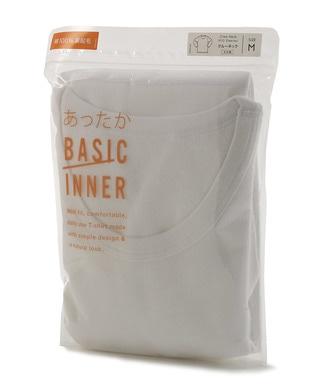 BASIC INNER 起毛クルーネック長袖Tシャツ1P メンズ ホワイト