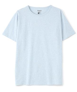 HANES クルーネックTシャツ メンズ サックス