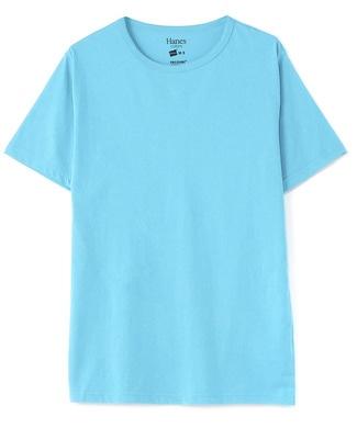 HANES クルーネックTシャツ メンズ ターコイズ