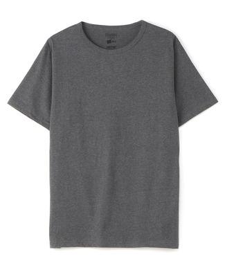 HANES クルーネックTシャツ メンズ ダークグレー