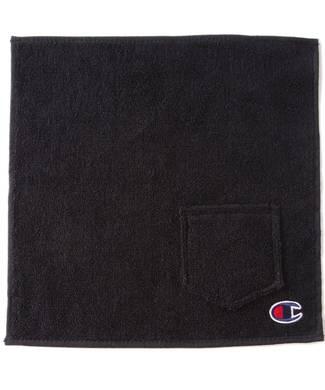 Champion ポケット付きハンドタオル メンズ ブラック
