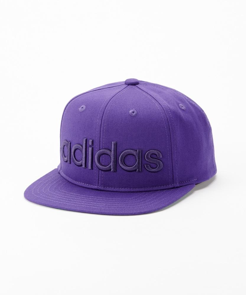 adidas ベースボールキャップ キッズ パープル