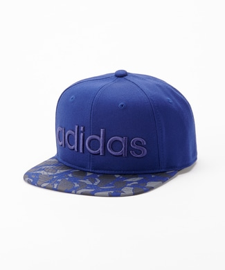 adidas 柄ベースボールキャップ キッズ ネイビー