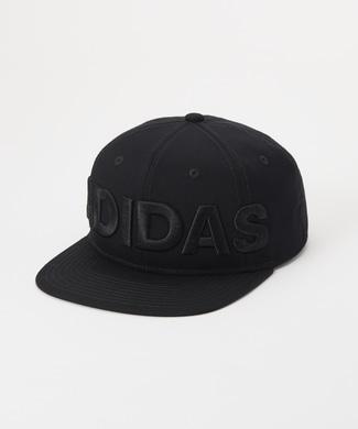 adidas 立体刺繍ロゴBBキャップ キッズ ブラック
