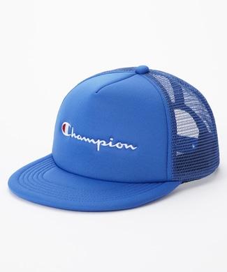 Champion ロゴメッシュキャップ キッズ ブルー