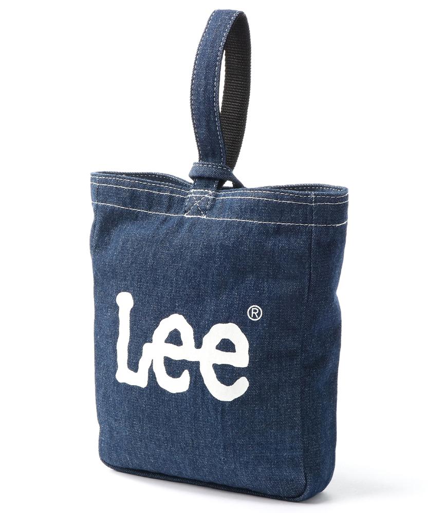 Lee ロゴ入りデニムシューズバッグ キッズ 濃色