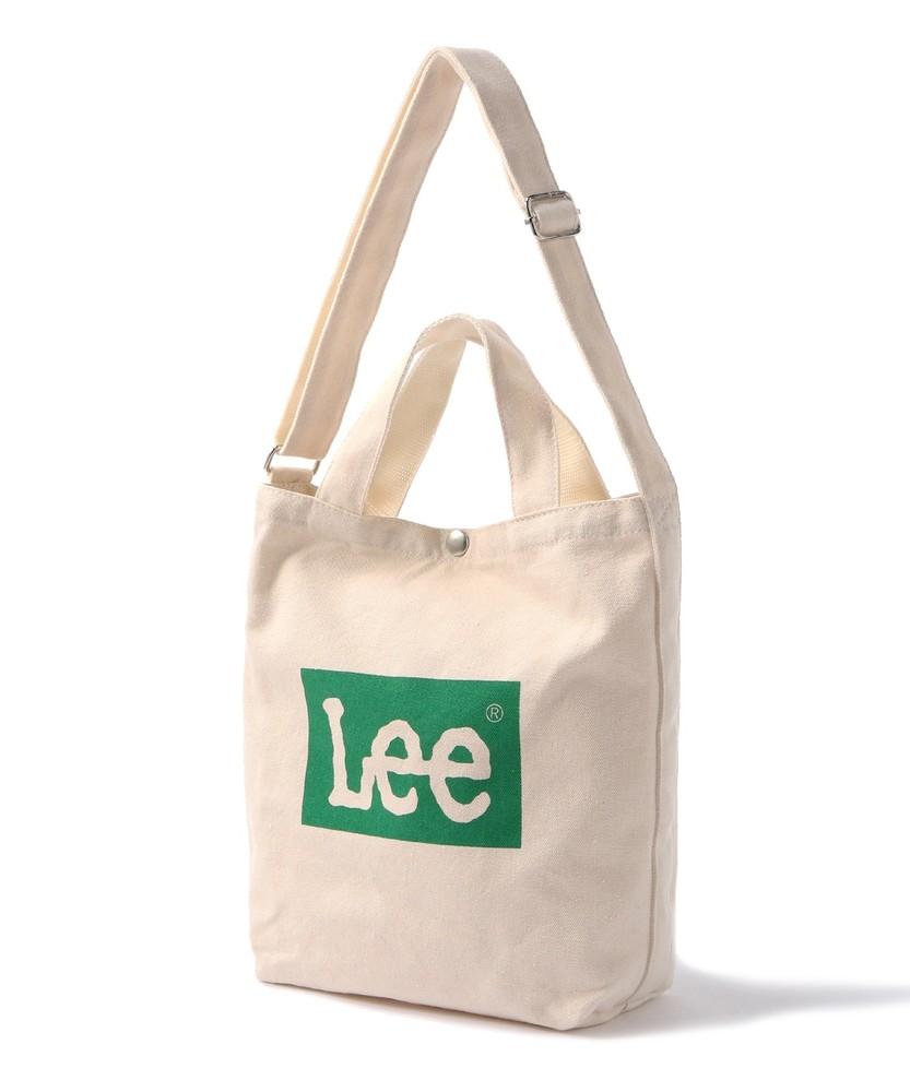 Lee ロゴ入りBOXトート キッズ グリーン