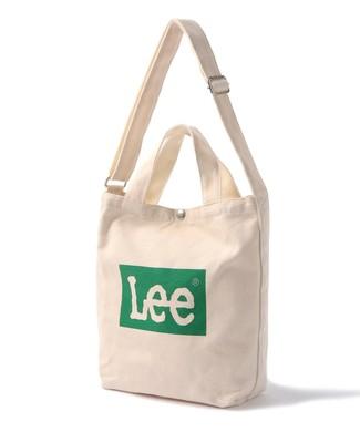 Lee ボックスロゴ2wayショルダートートバッグ グリーン