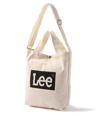 Lee ボックスロゴ2wayショルダートートバッグ ブラック