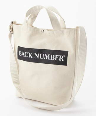 BACK NUMBER 2WAYロゴショルダートートバッグ A