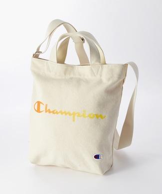 Champion 2wayロゴショルダートートバッグ オレンジ