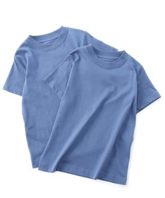 HANES BEEFY-Tシャツ2P キッズ ブルー