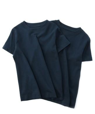 HANES BEEFY-Tシャツ2P キッズ ネイビー