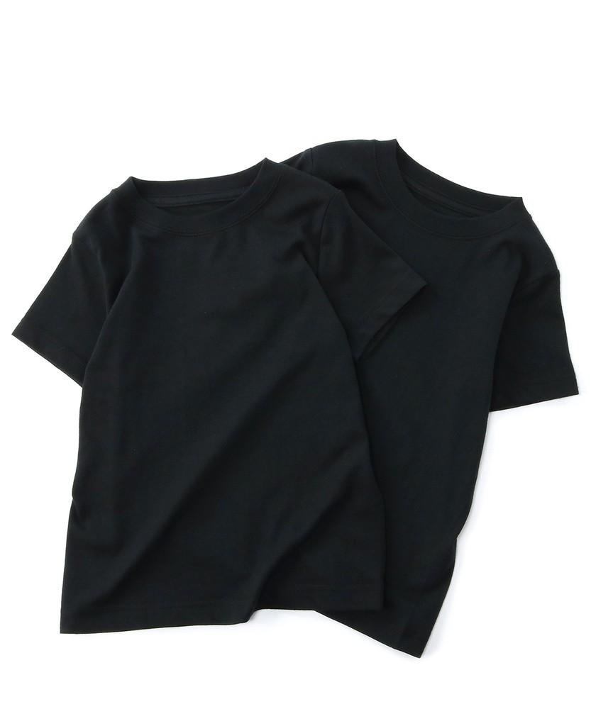 HANES BEEFY-Tシャツ2P キッズ ブラック