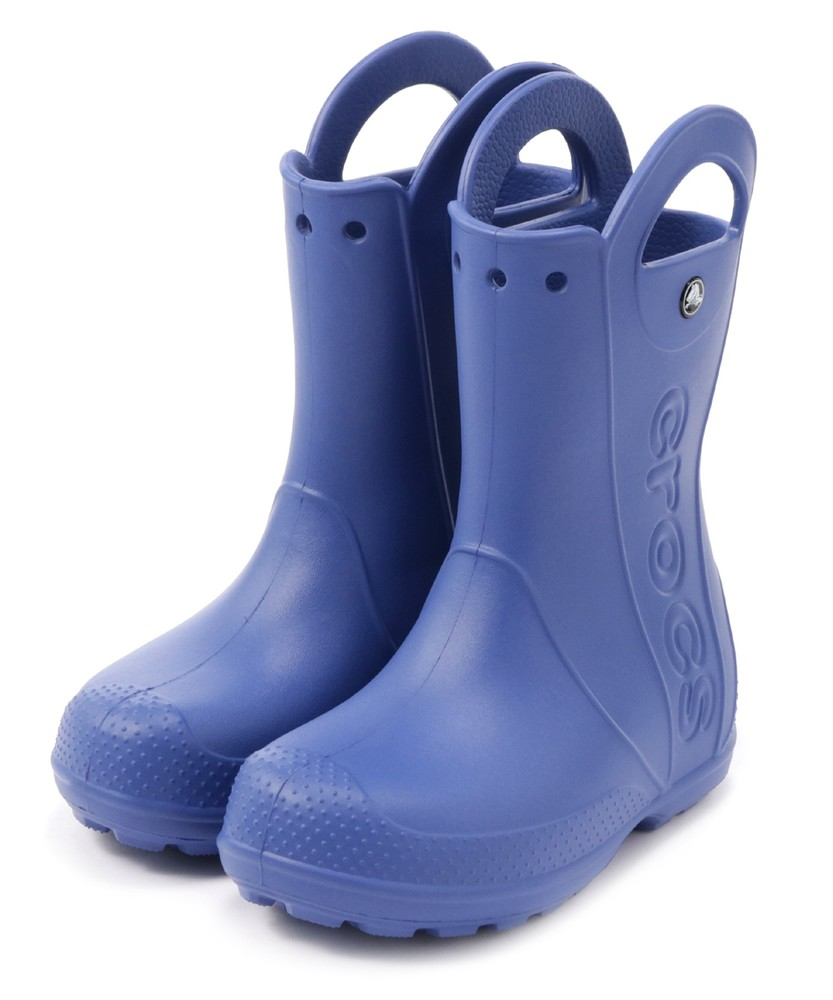 crocs レインブーツ キッズ ブルー
