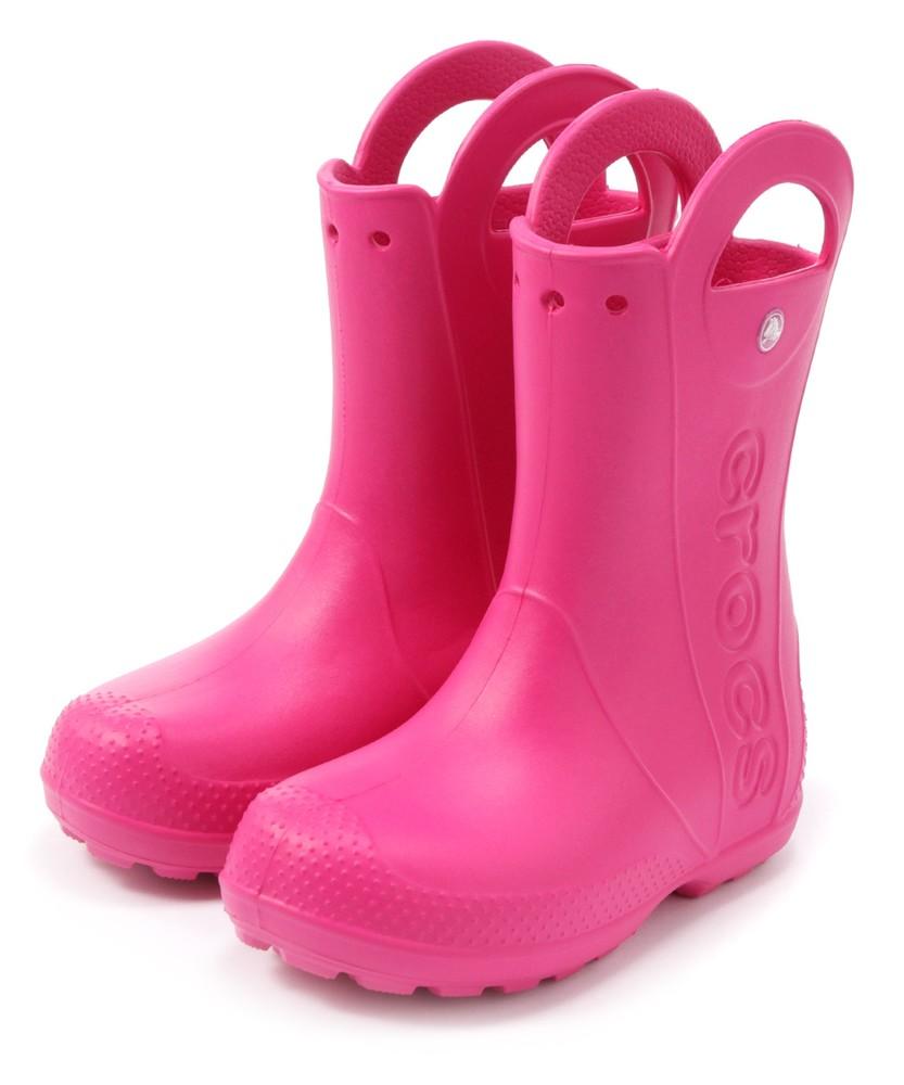 crocs レインブーツ キッズ ピンク