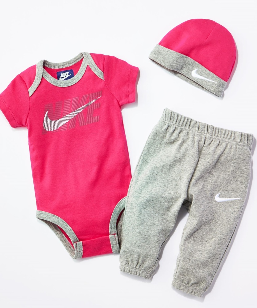 NIKE ベビーギフト キッズ グレー