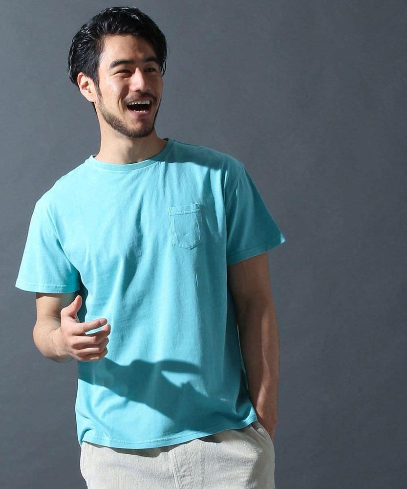FRUIT OF THE LOOM クルーネックTシャツ サックス
